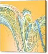 Ripple Yellow Canvas Print