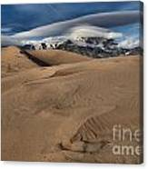 Ripples Dunes And Clouds Canvas Print