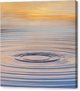 Ripples On A Still Pond Canvas Print