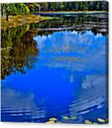 Ripples On Fly Pond - Old Forge New York Canvas Print