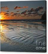 Ripples On The Beach Canvas Print