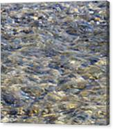 Rippling Water Over Rocks Canvas Print