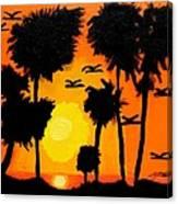 Rising Glow At Sunset Canvas Print