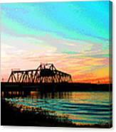 Rising Sun On The Mokelumne River Canvas Print