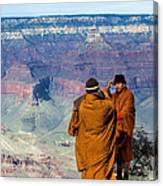 Risk-taking At The Grand Canyon Canvas Print