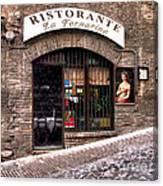 Ristorante La Fornaina. Urbino Canvas Print