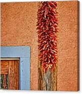 Ristra And Door Canvas Print
