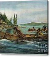Rival Fur Traders  Canvas Print