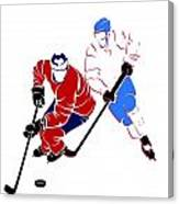 Rivalries Canadiens And Nordiques Canvas Print