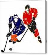 Rivalries Oilers And Flames Canvas Print