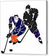 Rivalries Oilers And Kings Canvas Print