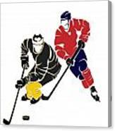 Rivalries Penguins And Capitals Canvas Print