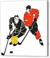 Rivalries Penguins And Flyers Canvas Print