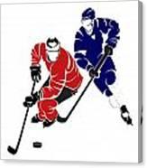 Rivalries Senators And Maple Leafs Canvas Print