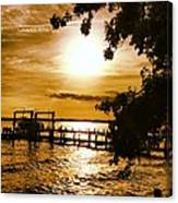 River Acres Jaynes Sunset Canvas Print