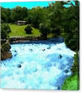 River And Waterfall In France Canvas Print