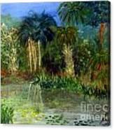 River At Riverbend Park In Jupiter Florida Canvas Print