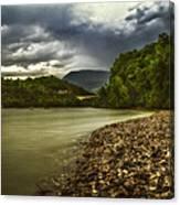 River Below The Clouds Canvas Print