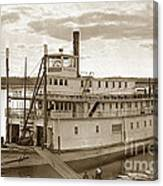 River Boat Yukon Stern Wheel Alaska 1915 Canvas Print