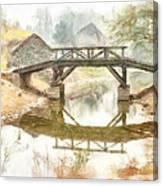 River Bridge Landscape Canvas Print