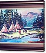 River Camp Canvas Print