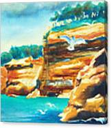 River Cliffs 2 Canvas Print