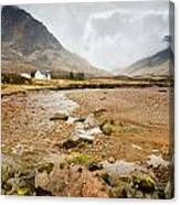 River Coupall In Glen Coe Canvas Print