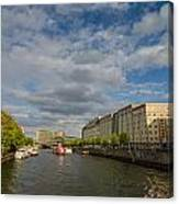 River Cruise Canvas Print