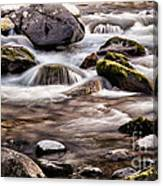 River Flowing Over Rocks Canvas Print