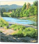 River Forks Morning Canvas Print