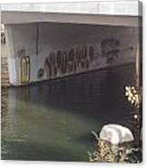 River Graffiti Canvas Print