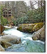 River House In Spring Canvas Print