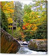 River House In The Fall Canvas Print