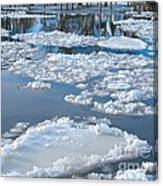 River Ice Canvas Print