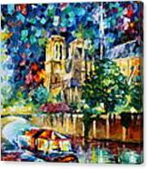 River In Paris Canvas Print
