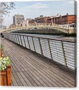 River Liffey Boardwalk In Dublin Canvas Print