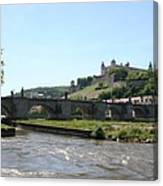 River Main With Fortress - Wuerzburg Canvas Print