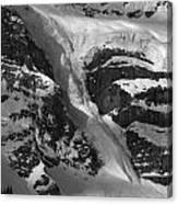 1m3646-bw-river Of Ice On Snowbird Glacier Canvas Print