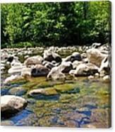 River Of Rocks Canvas Print