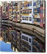 River Onyar Girona Spain Canvas Print