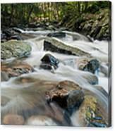 River - Rapids Above Kent Falls Canvas Print