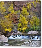 River Rapids In Zion Canvas Print