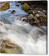 River Rapids Washing Over Rocks With Silky Look Canvas Print