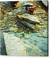 River Rock Path Canvas Print