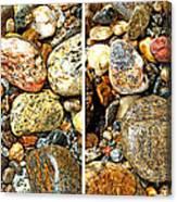 River Rocks 15 In Stereo Canvas Print