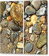 River Rocks 17 In Stereo Canvas Print