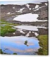 River San Juan And Lakes At Sunset Canvas Print