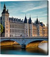 River Seine With Conciergerie Canvas Print