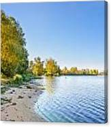 River Shore And Trees Canvas Print