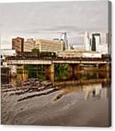 River Structures13 Canvas Print